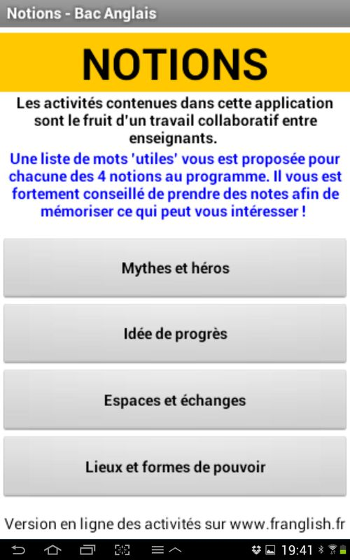 notion anglais idee de progres